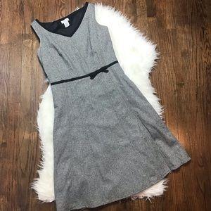 Ann Taylor LOFT Black and White Wool Tweed Dress